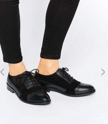 ASOS - MAKE-UP- Chaussures richelieu en cuir coupe large